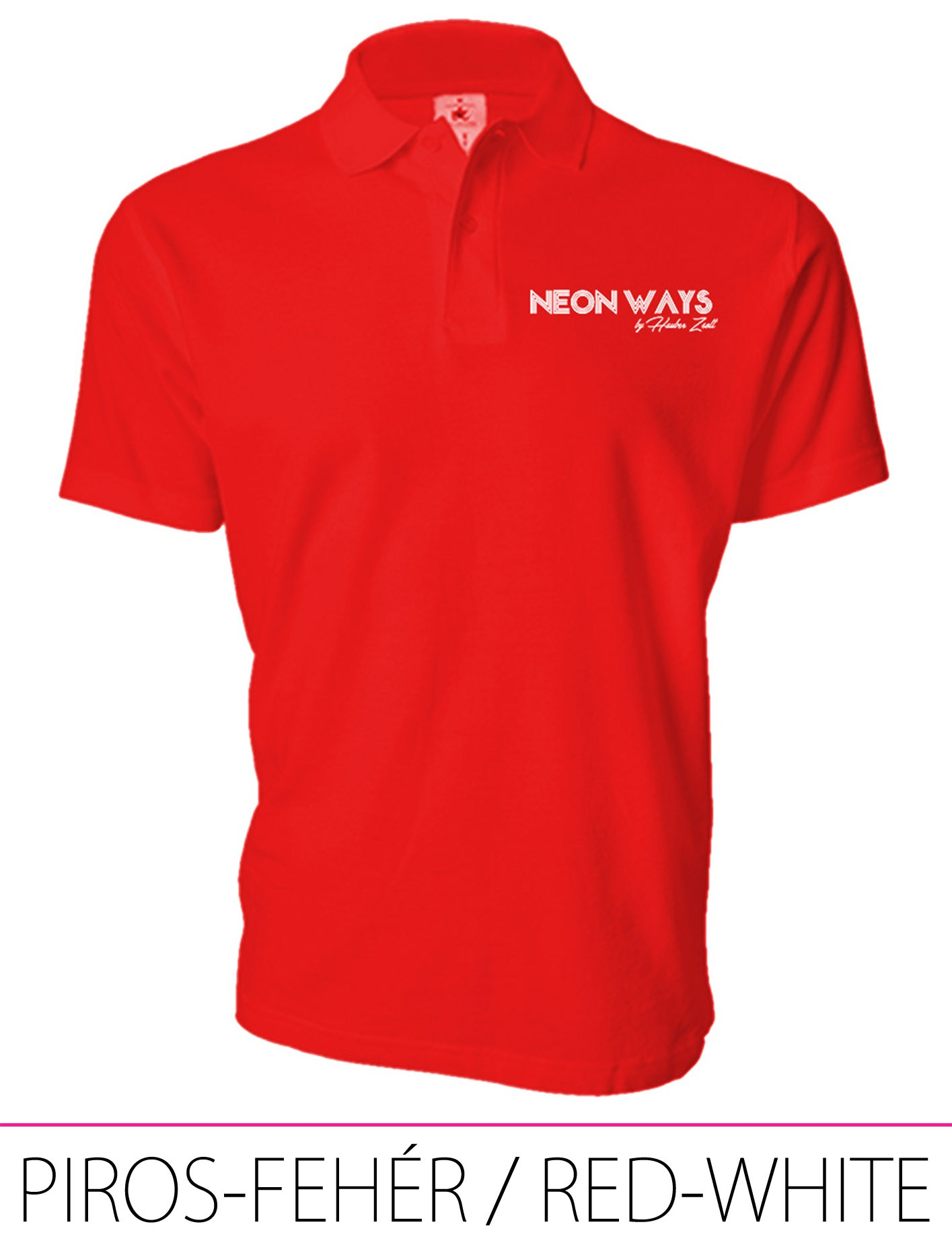 MEN POLO RED-WHITE