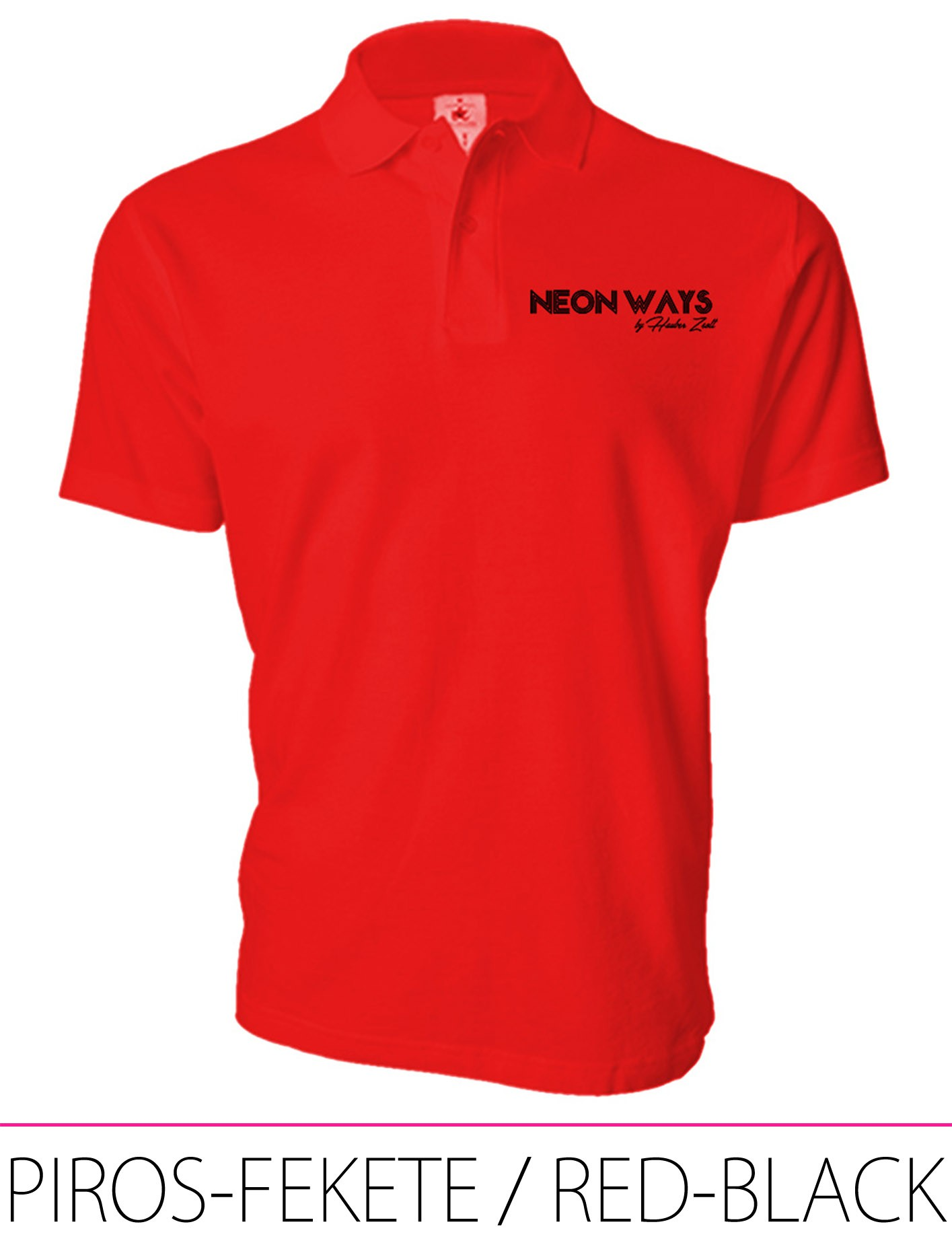 MEN POLO RED-BLACK