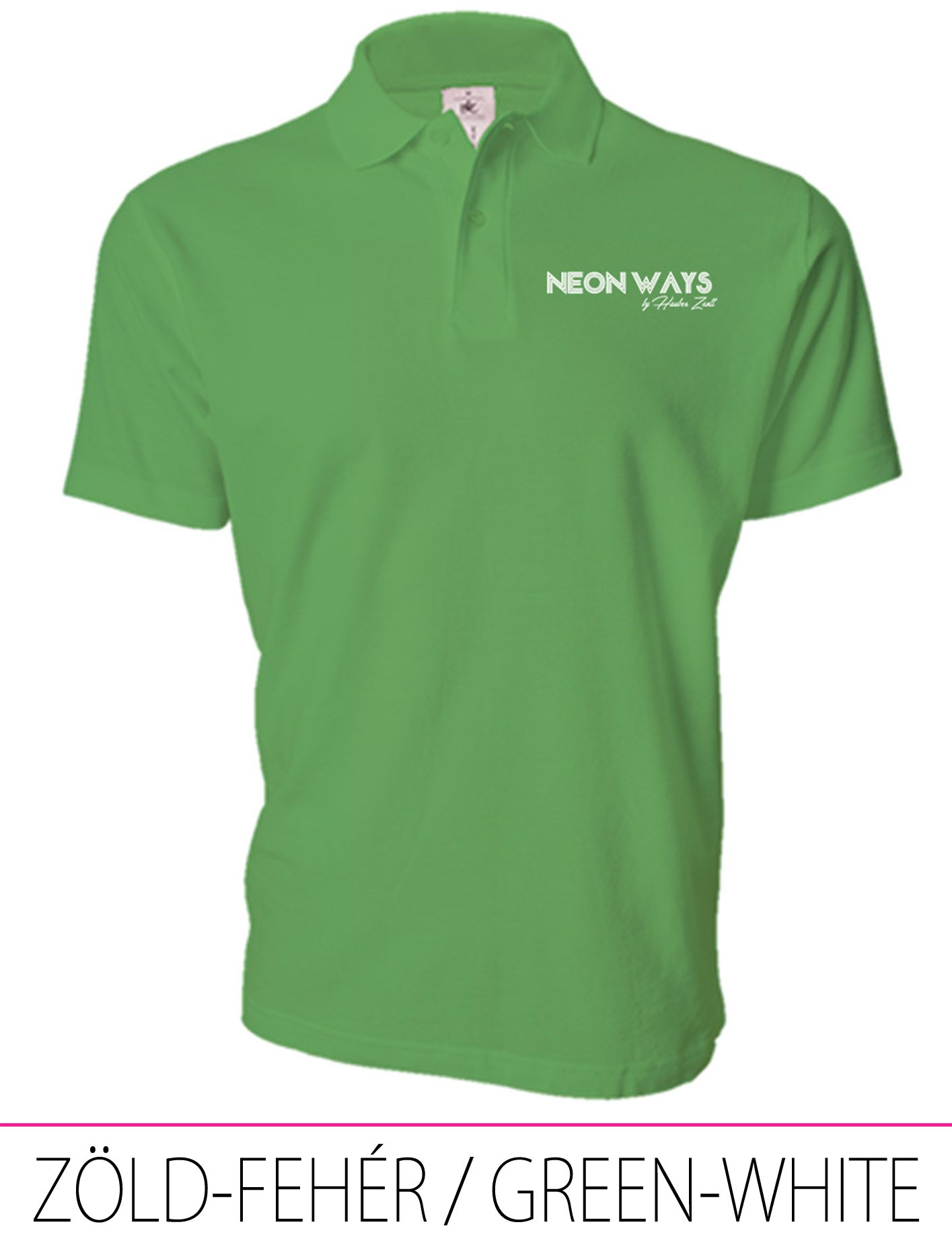 MEN POLO GREEN-WHITE