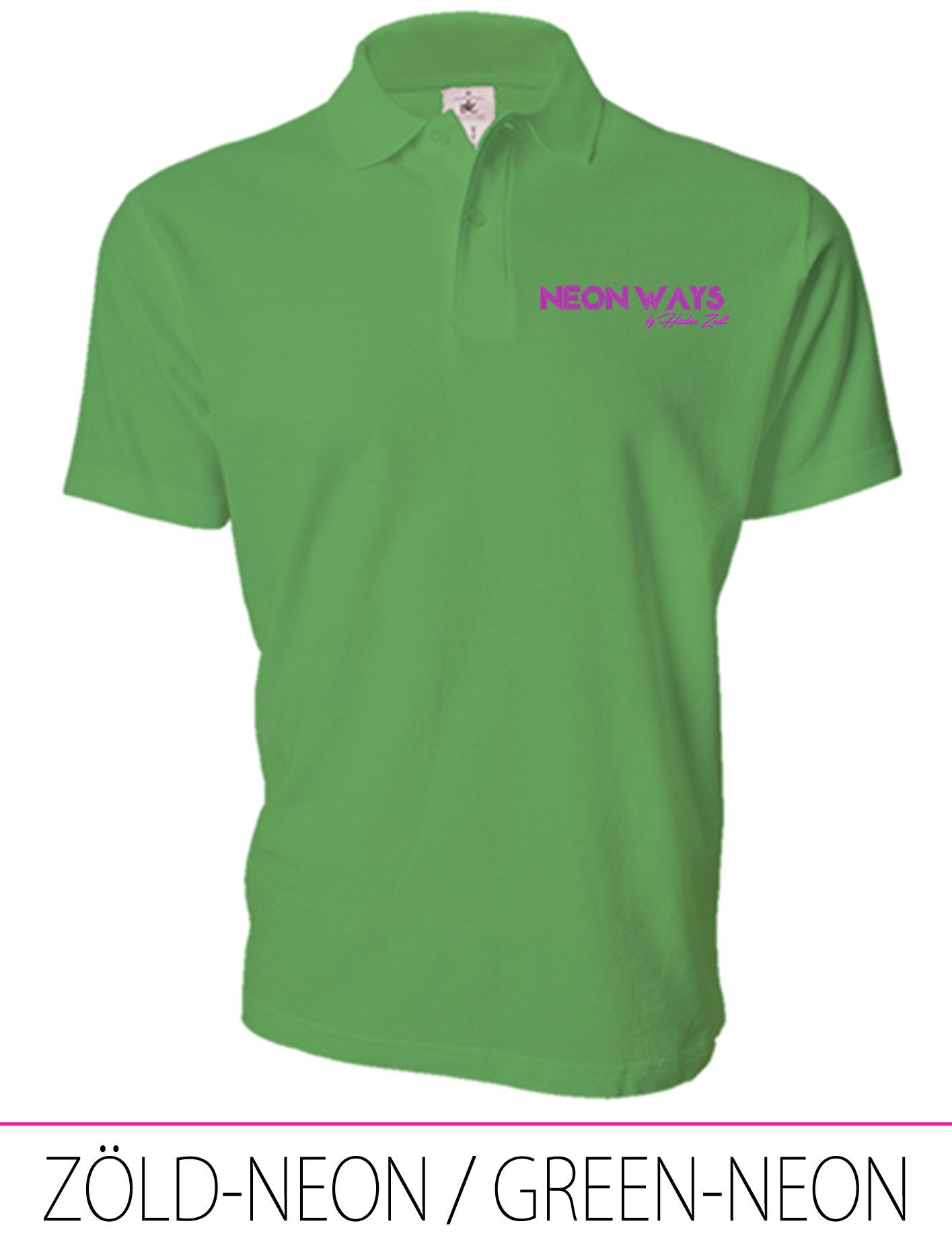 MEN POLO GREEN-NEON