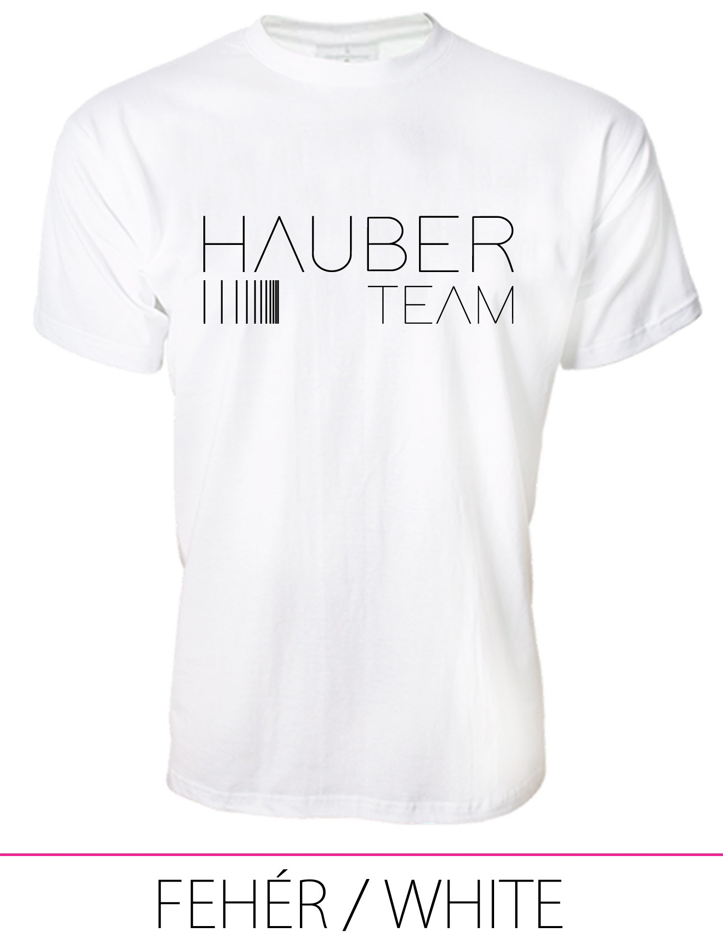 MEN CREW NECK T-SHIRT / HAUBER TEAM WHITE