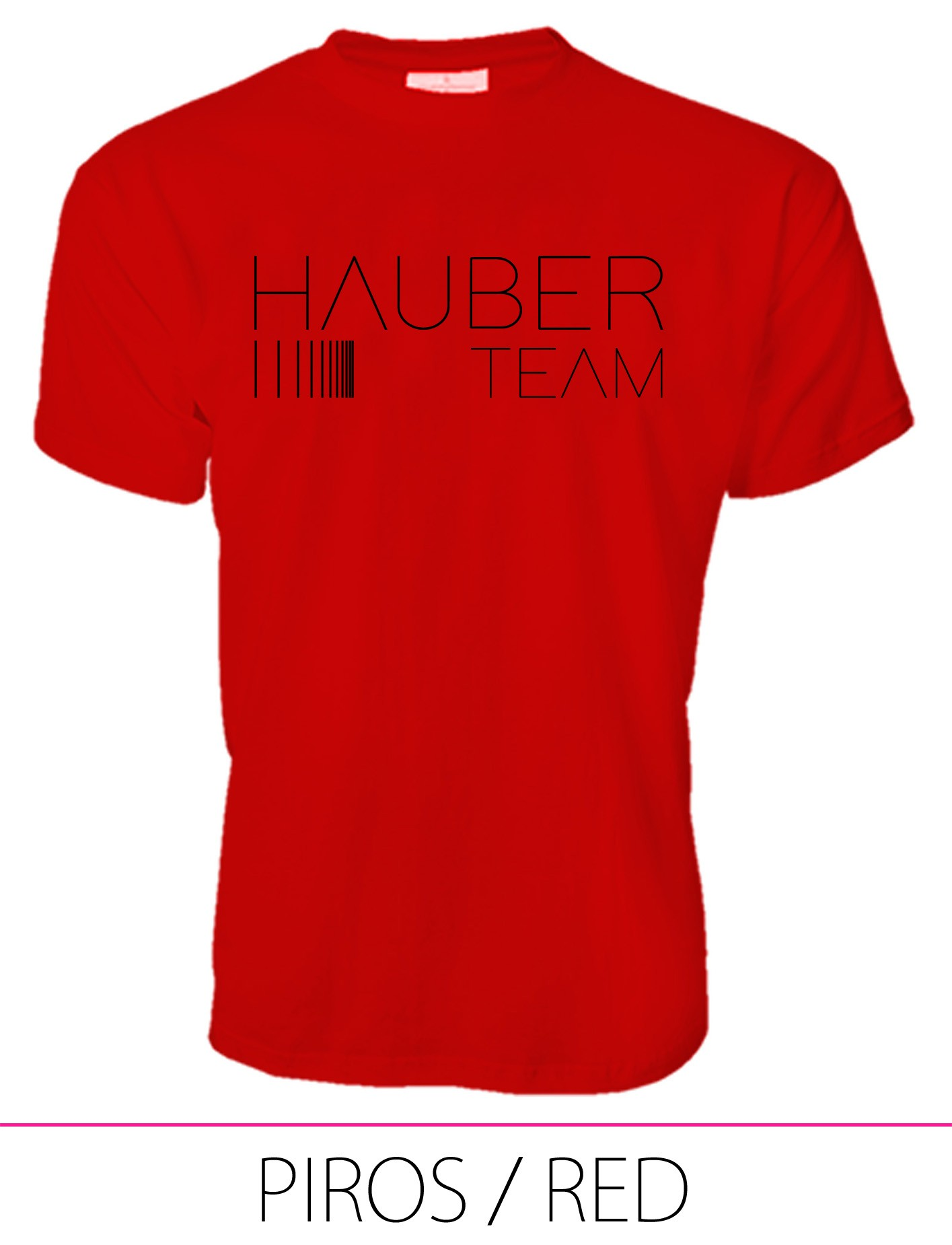 MEN CREW NECK T-SHIRT / HAUBER TEAM RED
