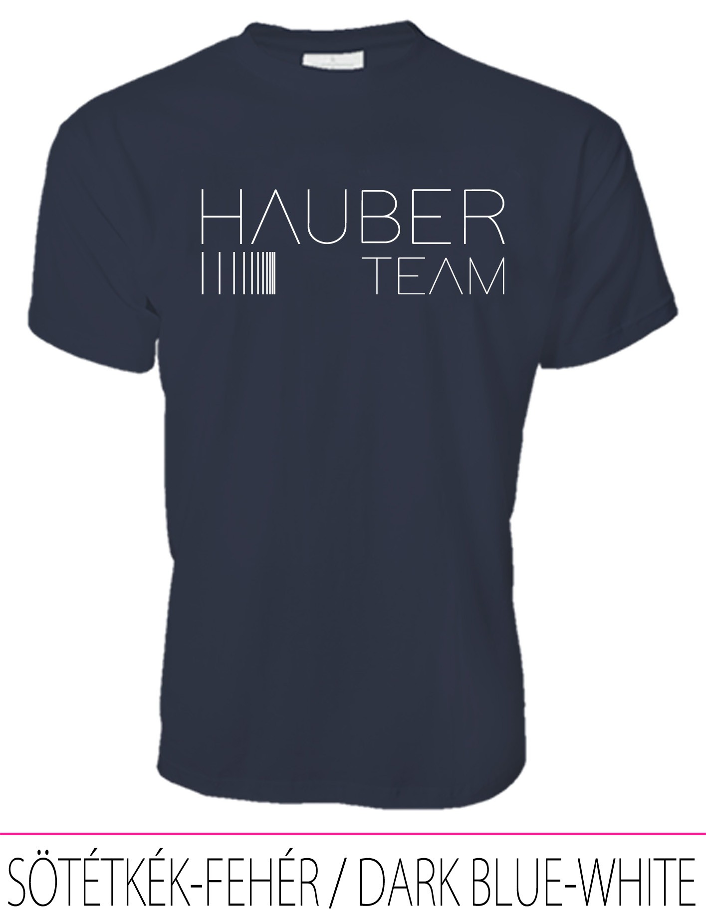 MEN CREW NECK T-SHIRT / HAUBER TEAM DARK BLUE-WHITE
