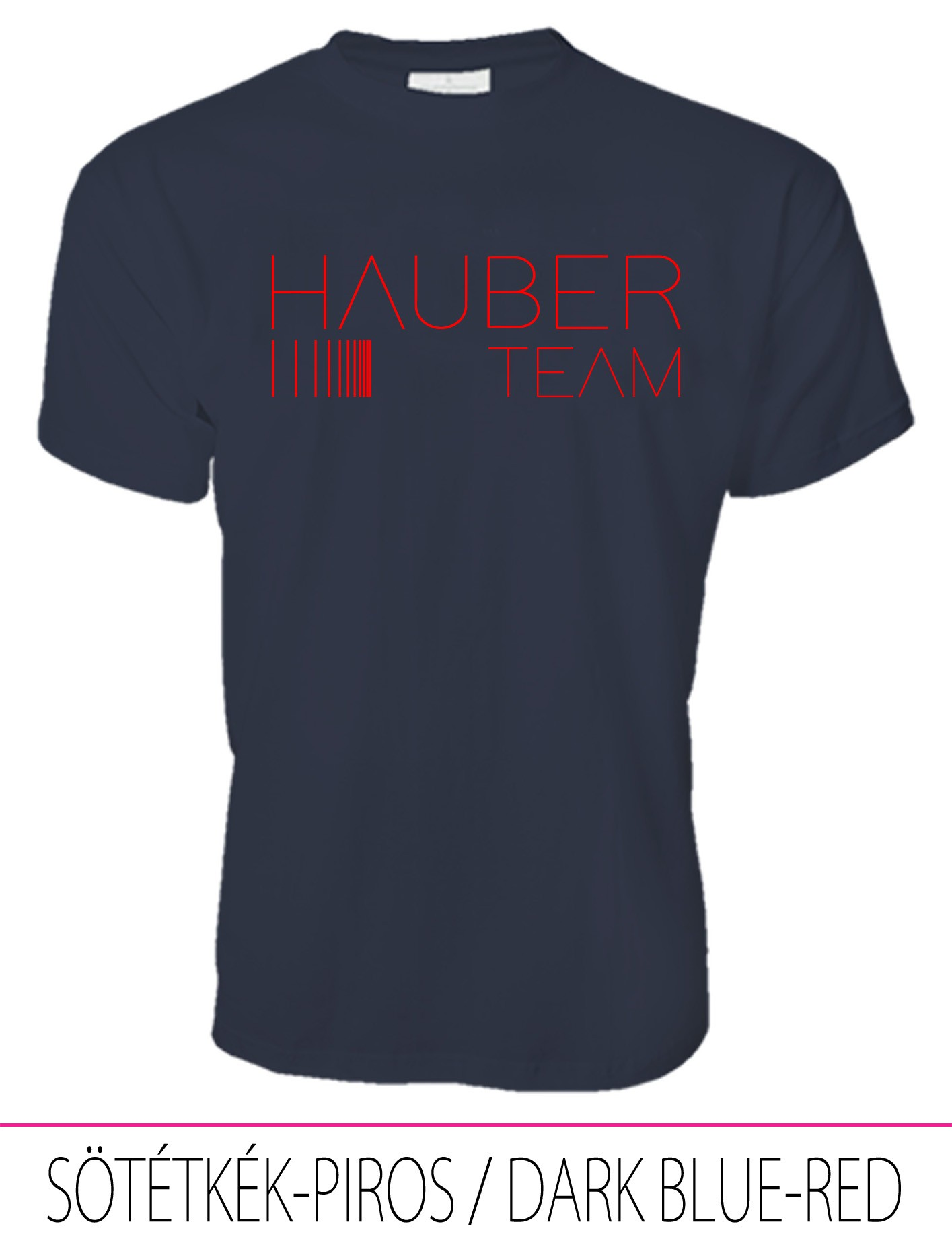 MEN CREW NECK T-SHIRT / HAUBER TEAM DARK BLUE-RED