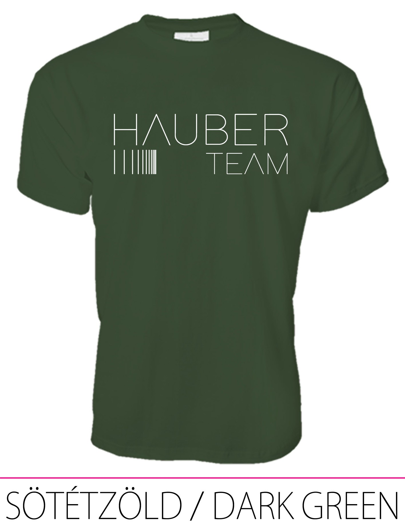 MEN CREW NECK T-SHIRT / HAUBER TEAM DARK GREEN