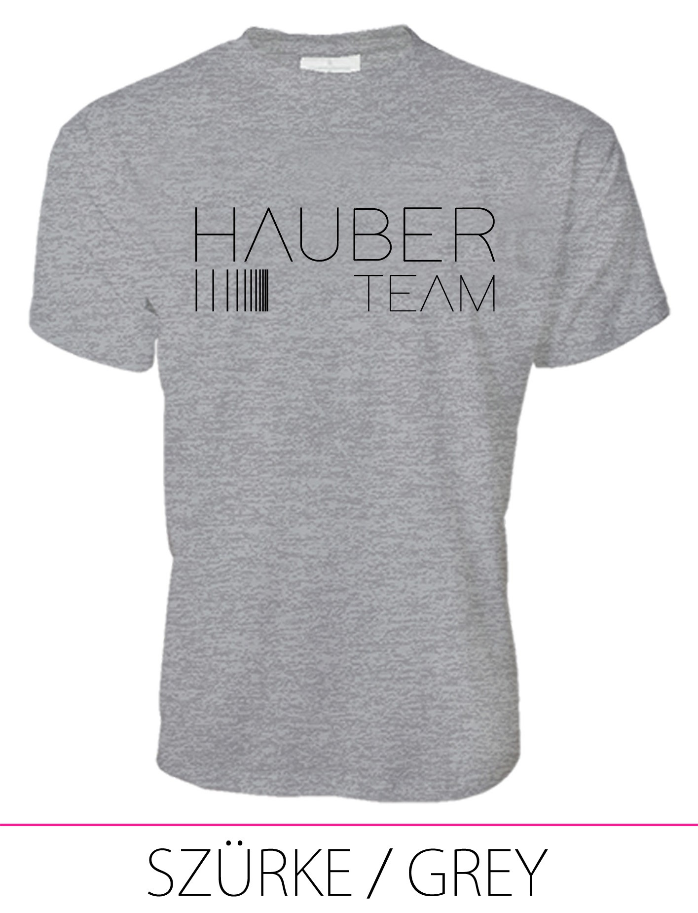 MEN CREW NECK T-SHIRT / HAUBER TEAM GREY