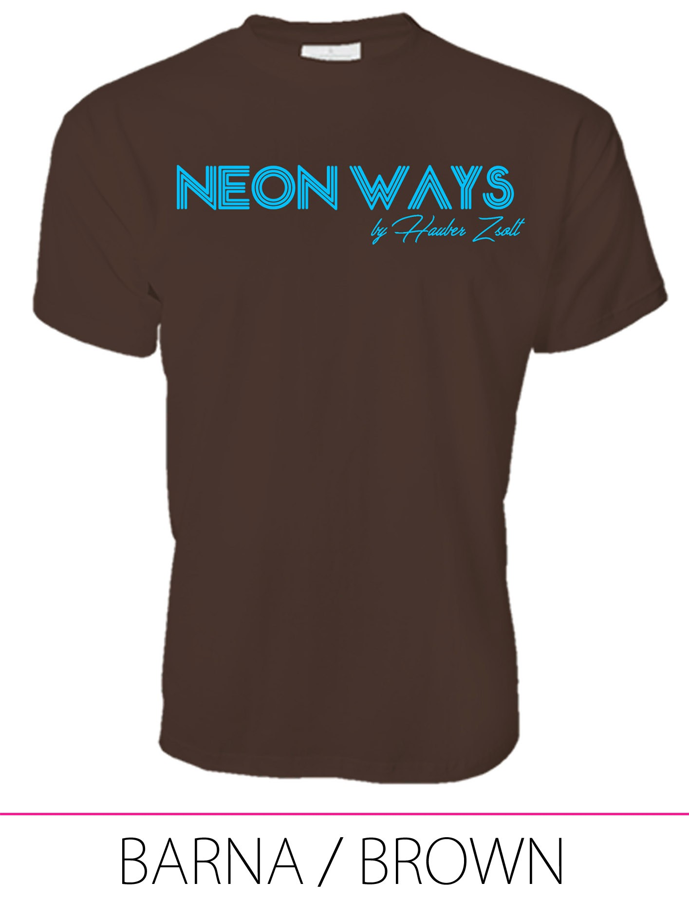 MEN PREMIUM CREW NECK T-SHIRT BROWN