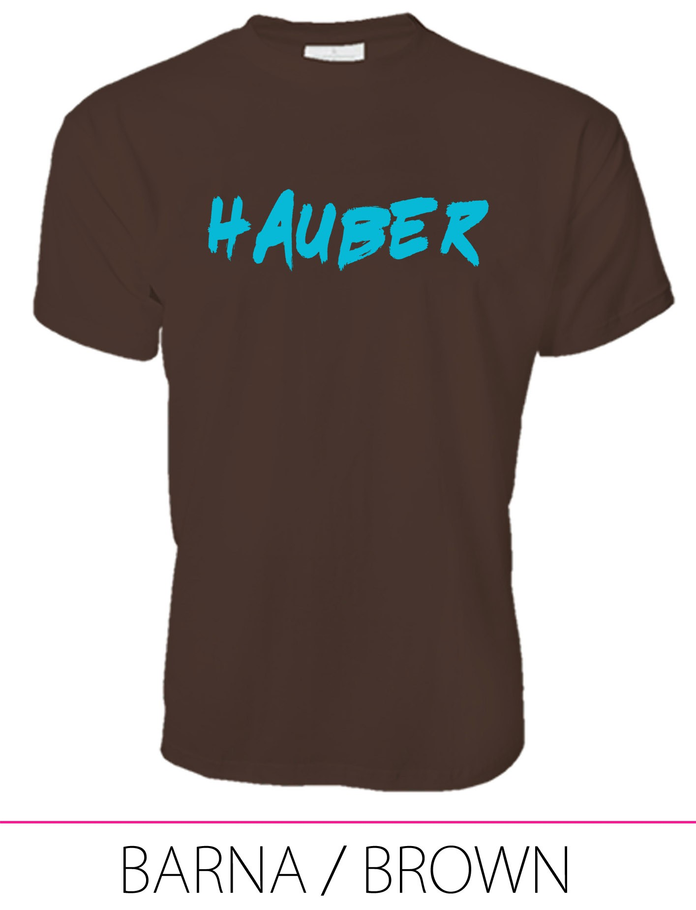 MEN PREMIUM CREW NECK T-SHIRT HAUBER BROWN