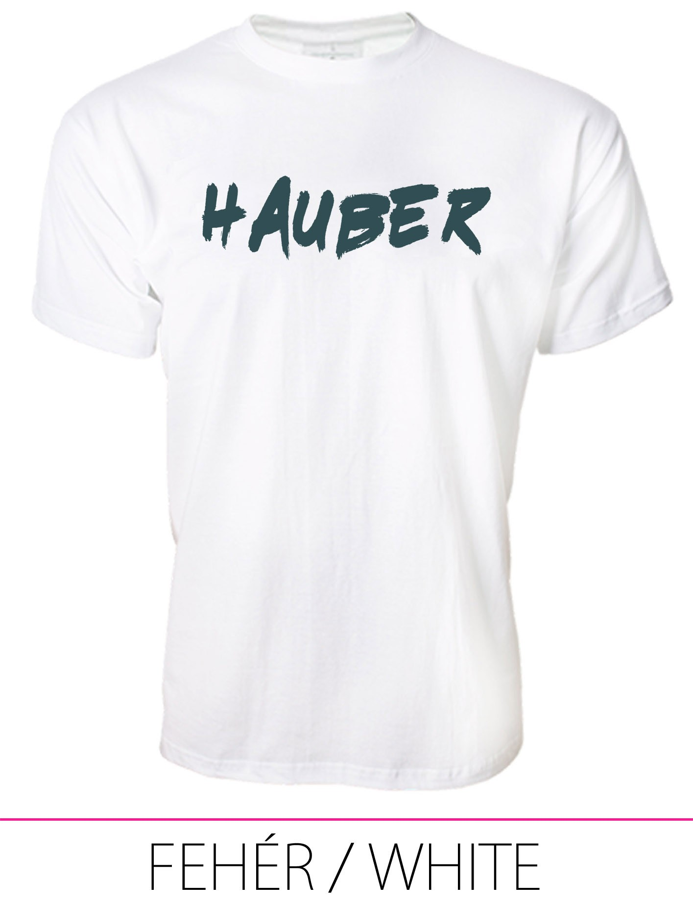 MEN PREMIUM CREW NECK T-SHIRT HAUBER WHITE