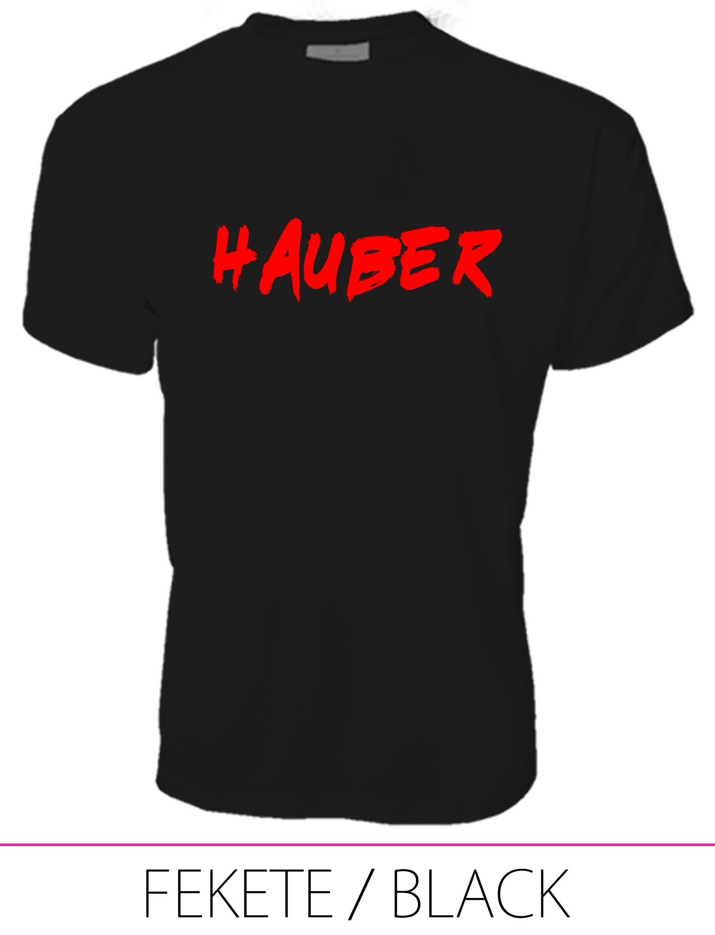 MEN PREMIUM CREW NECK T-SHIRT HAUBER BLACK