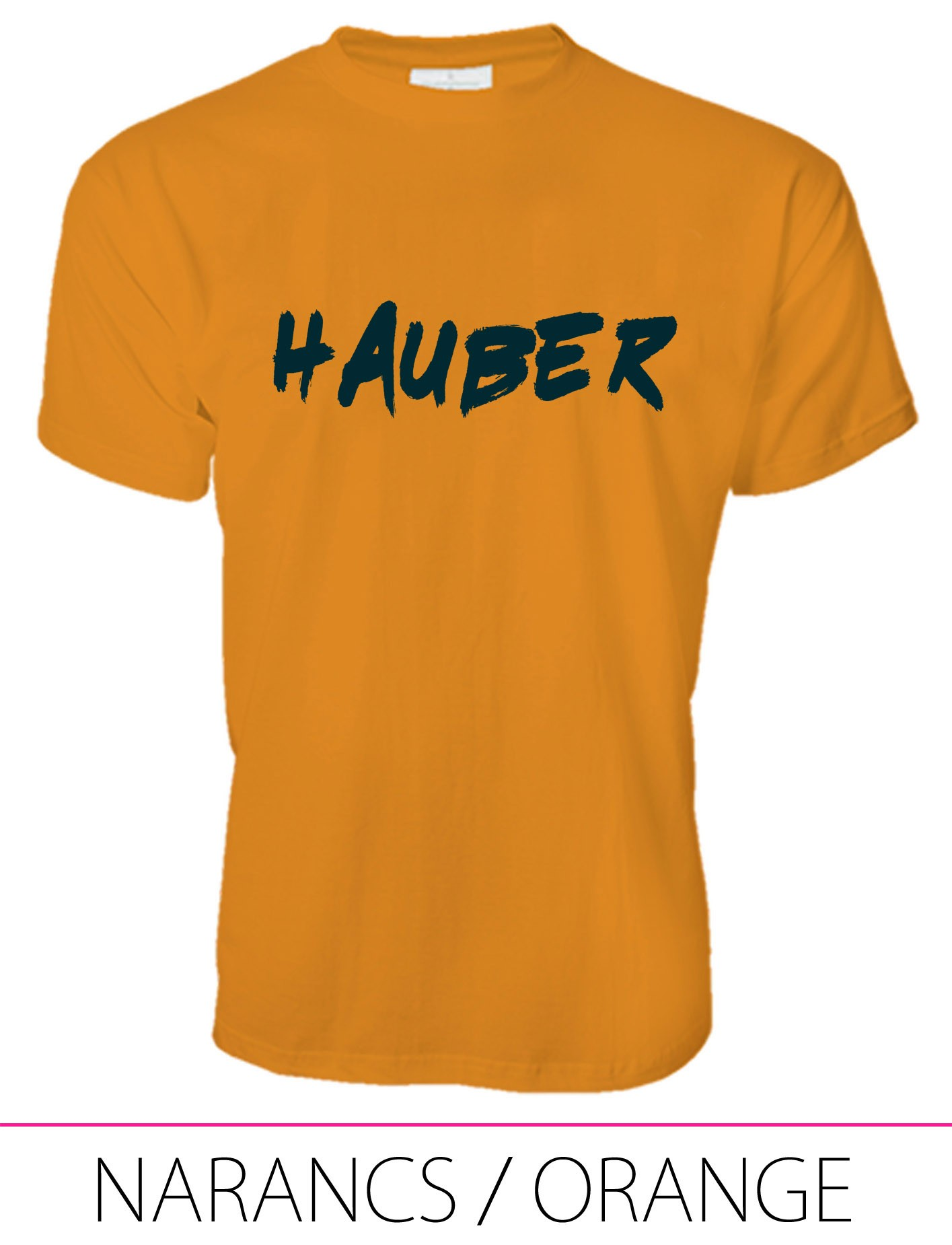 MEN PREMIUM CREW NECK T-SHIRT HAUBER ORANGE
