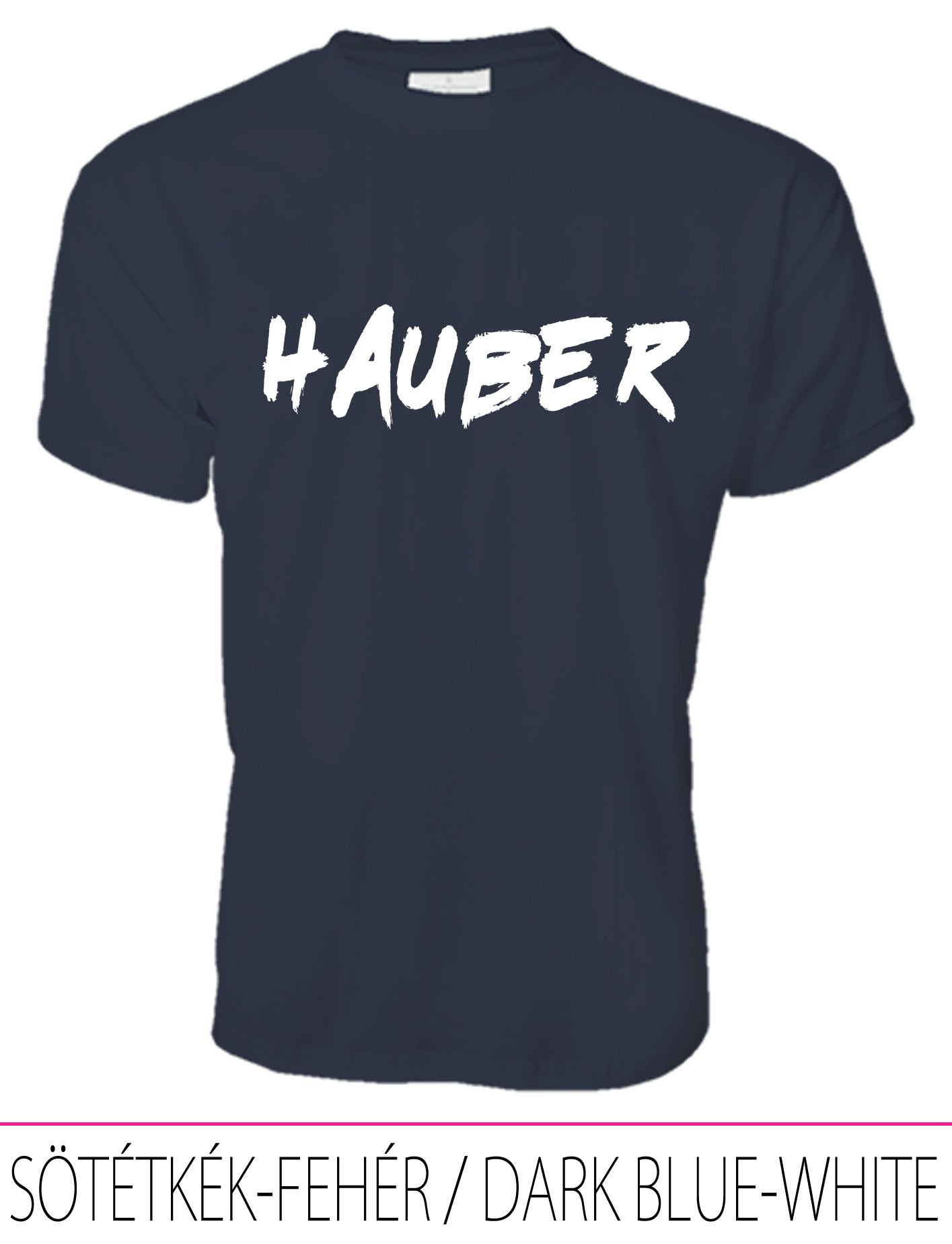 MEN PREMIUM CREW NECK T-SHIRT HAUBER DARK BLUE-WHITE