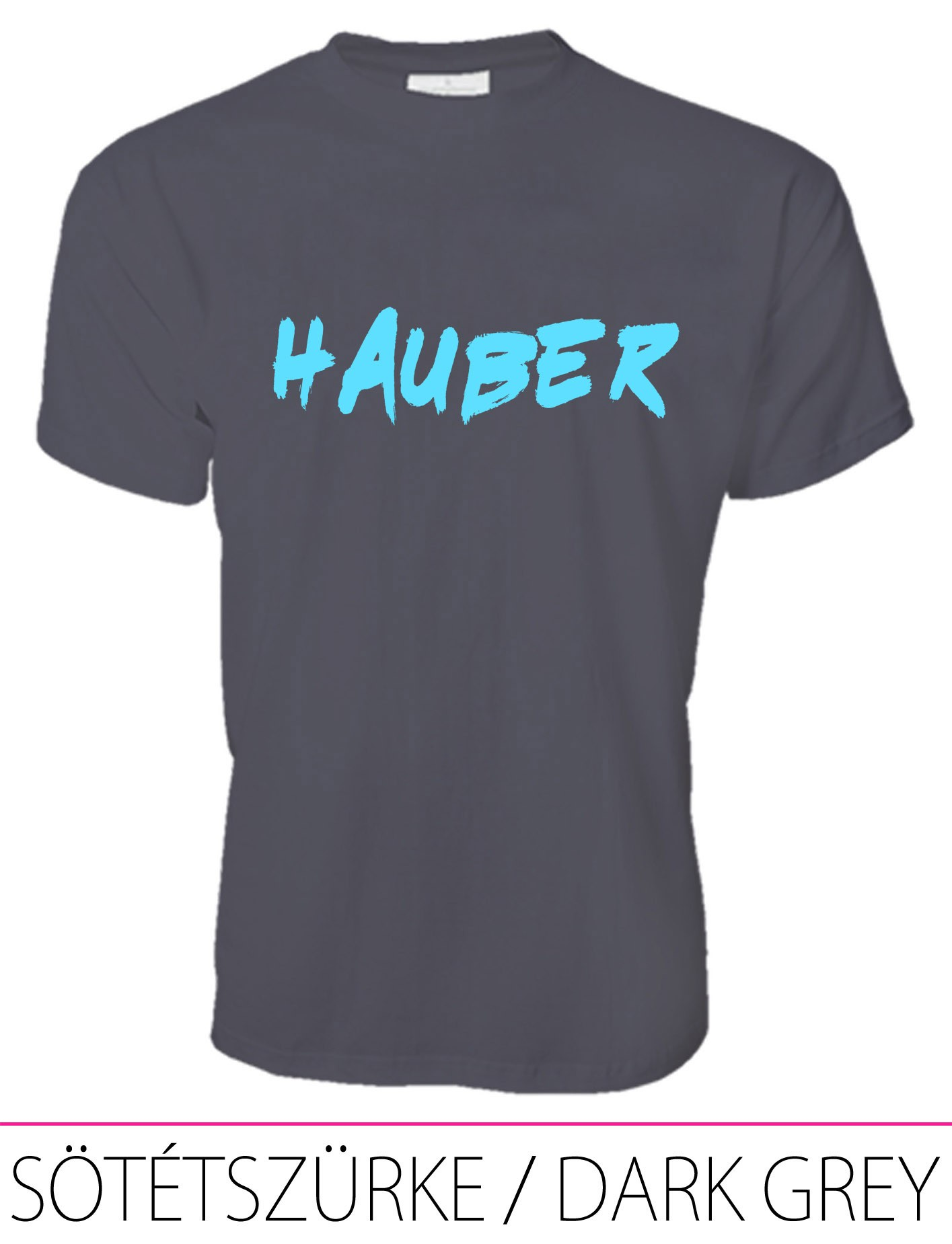 MEN PREMIUM CREW NECK T-SHIRT HAUBER DARK GREY