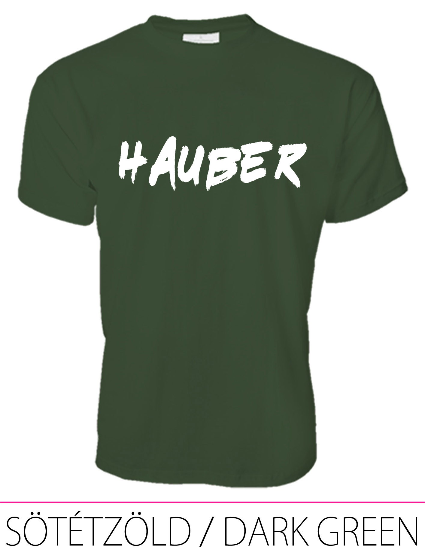 MEN PREMIUM CREW NECK T-SHIRT HAUBER DARK GREEN