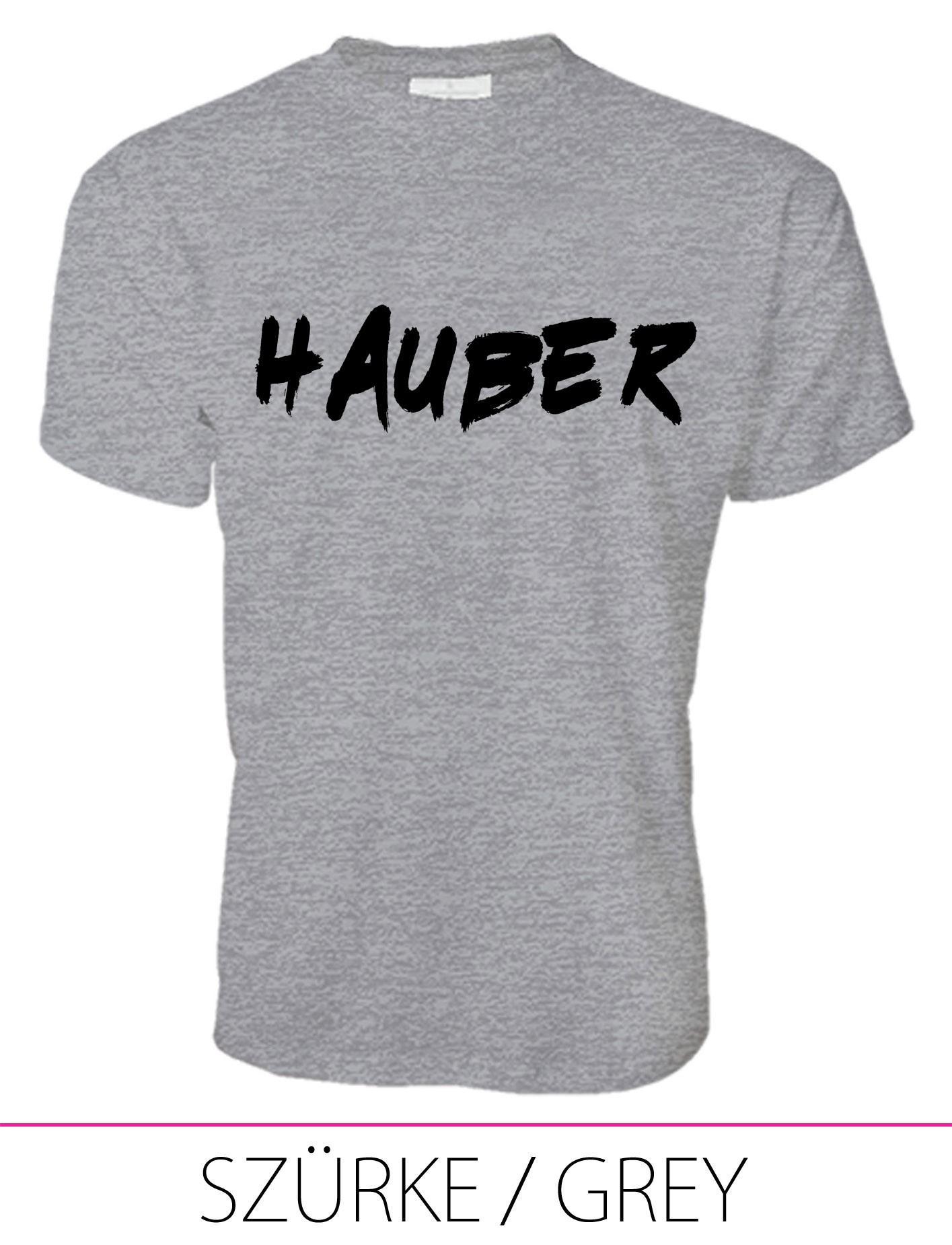 MEN PREMIUM CREW NECK T-SHIRT HAUBER GREY