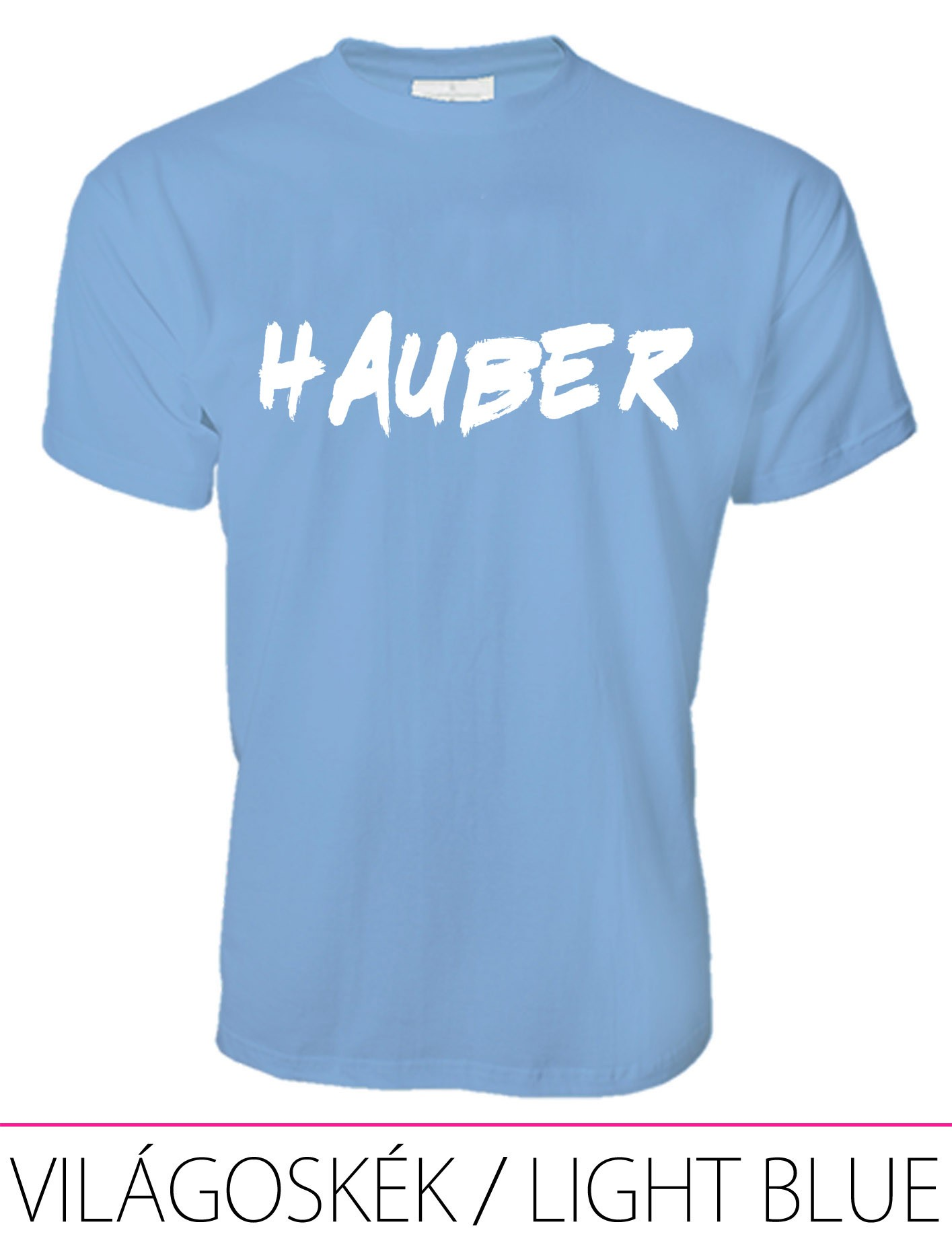 MEN PREMIUM CREW NECK T-SHIRT HAUBER LIGHT BLUE