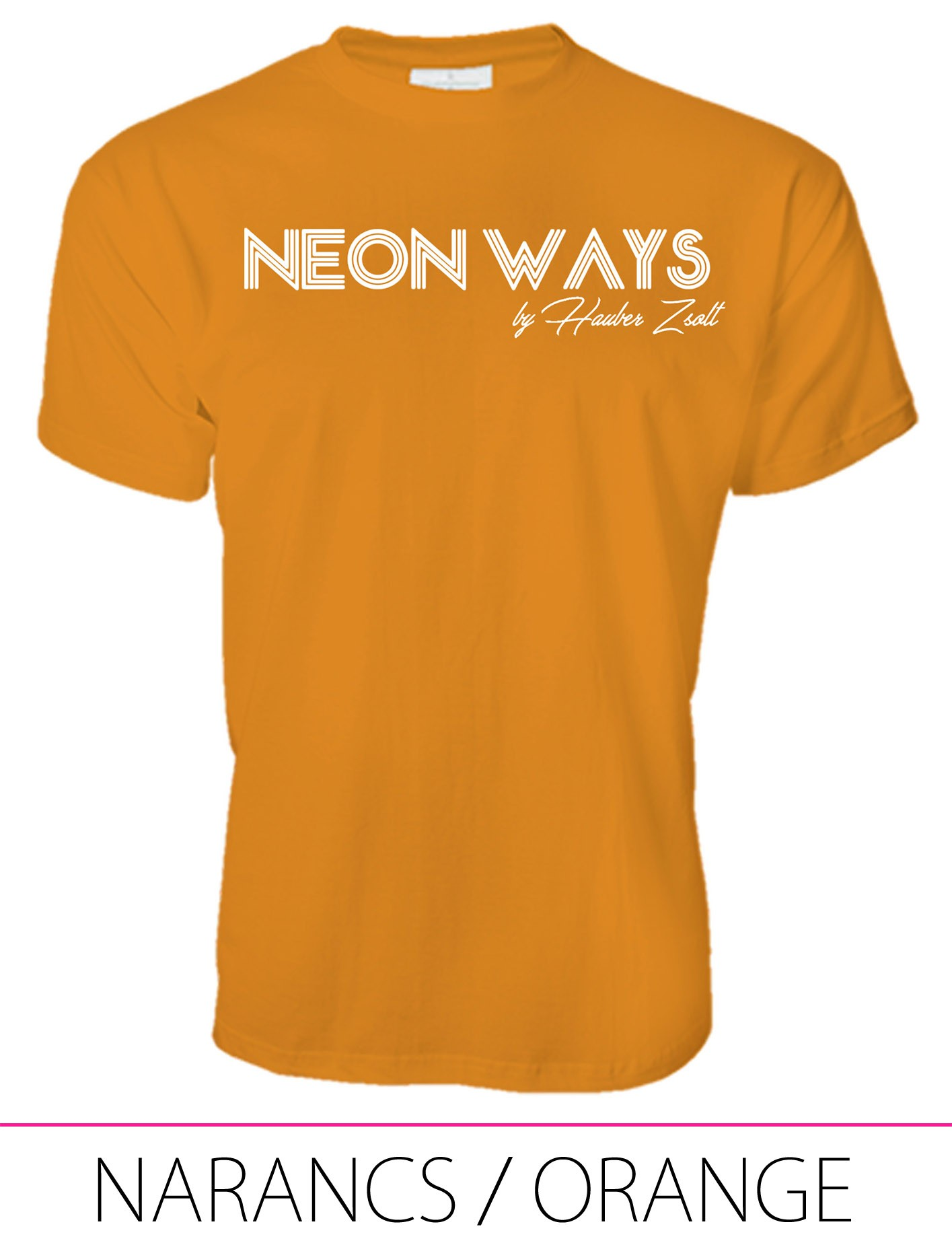 MEN PREMIUM CREW NECK T-SHIRT ORANGE