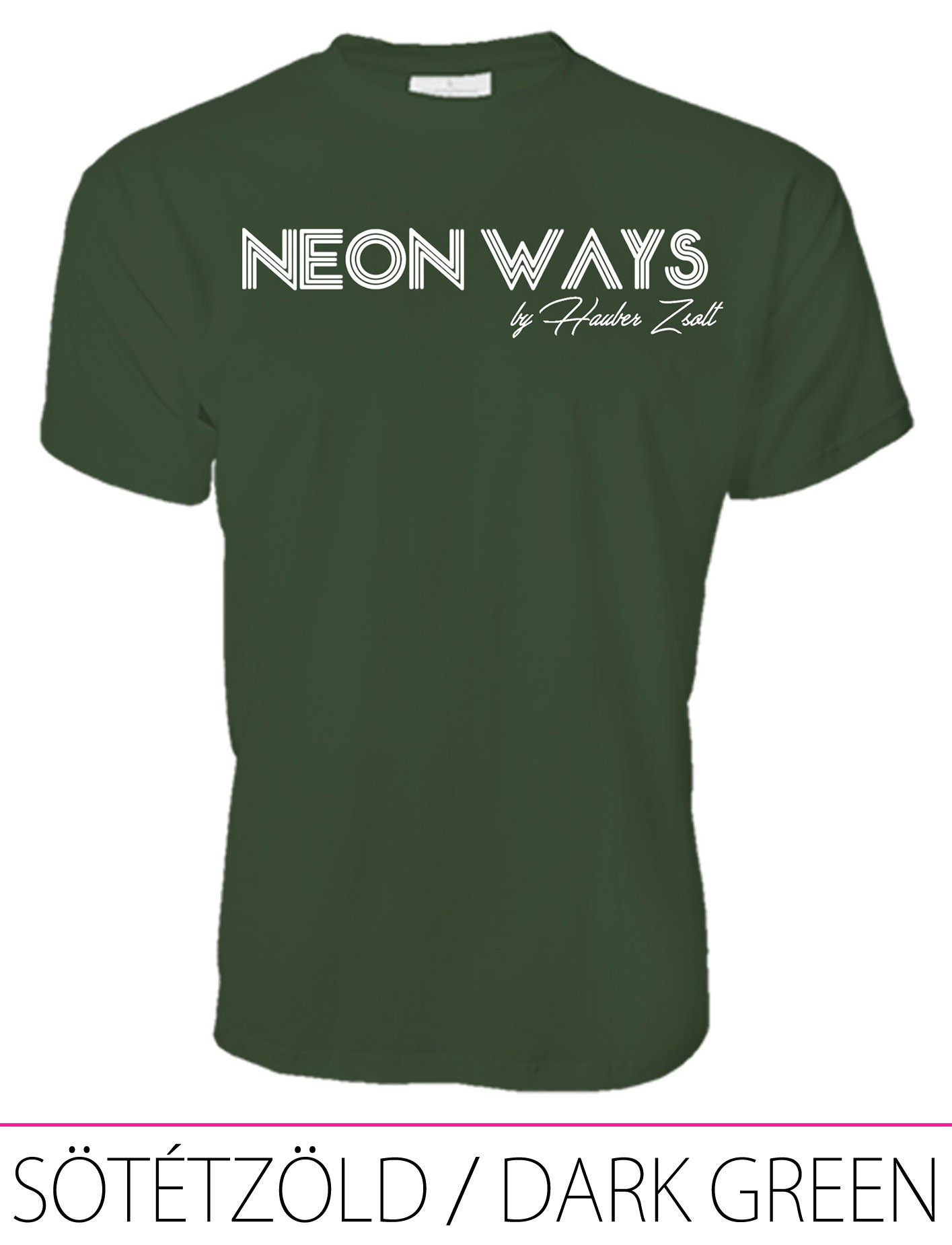 MEN PREMIUM CREW NECK T-SHIRT DARK GREEN