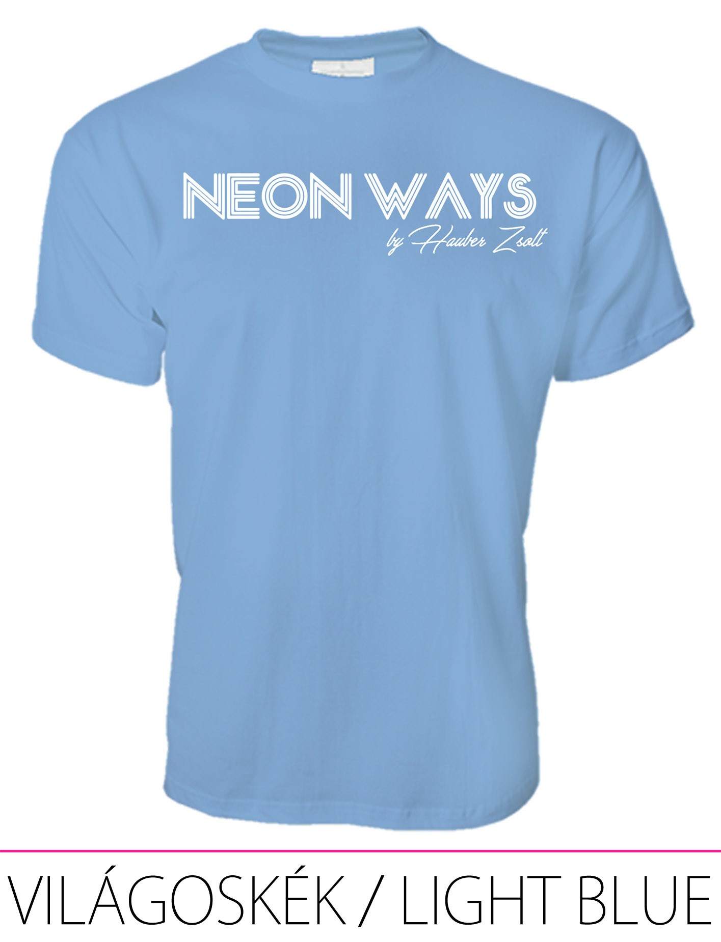 MEN PREMIUM CREW NECK T-SHIRT LIGHT BLUE