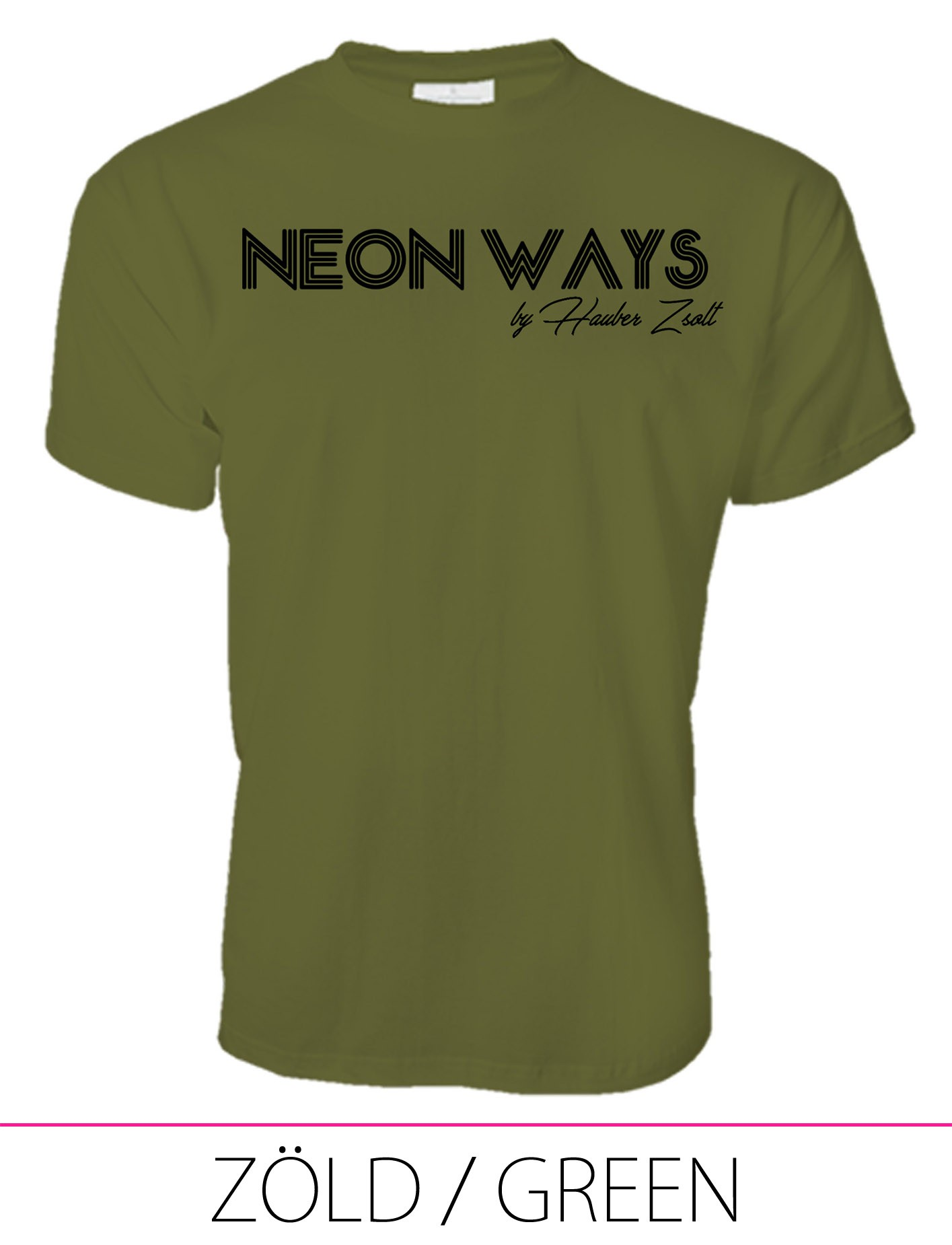 MEN PREMIUM CREW NECK T-SHIRT GREEN