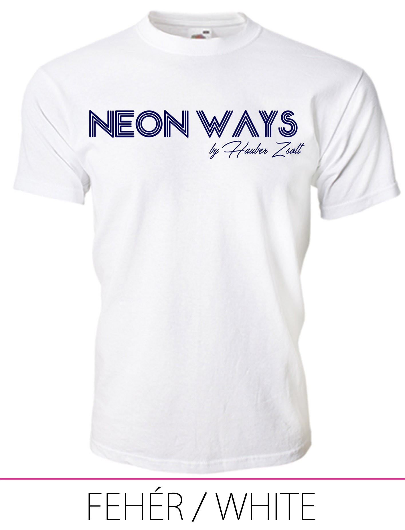 KIDS CREW NECK T-SHIRT NEON WAYS WHITE