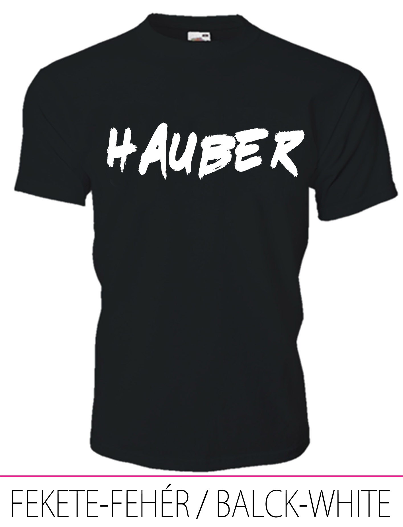 KIDS CREW NECK T-SHIRT HAUBER BLACK-WHITE