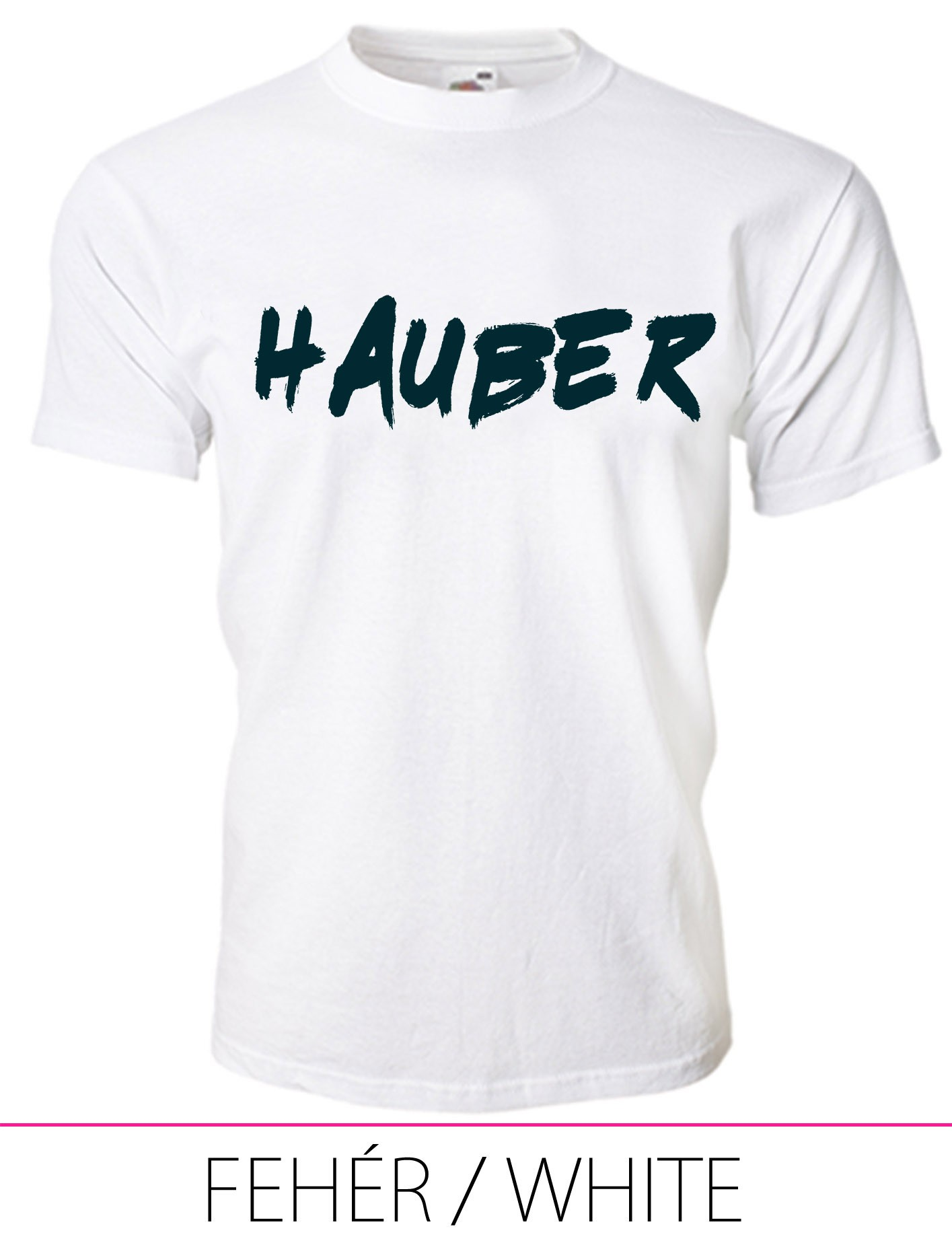 KIDS CREW NECK T-SHIRT HAUBER WHITE