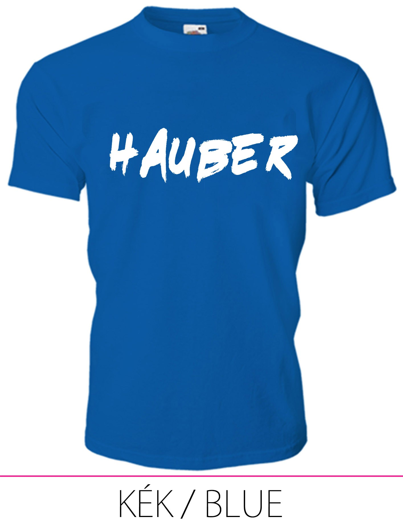 KIDS CREW NECK T-SHIRT HAUBER BLUE