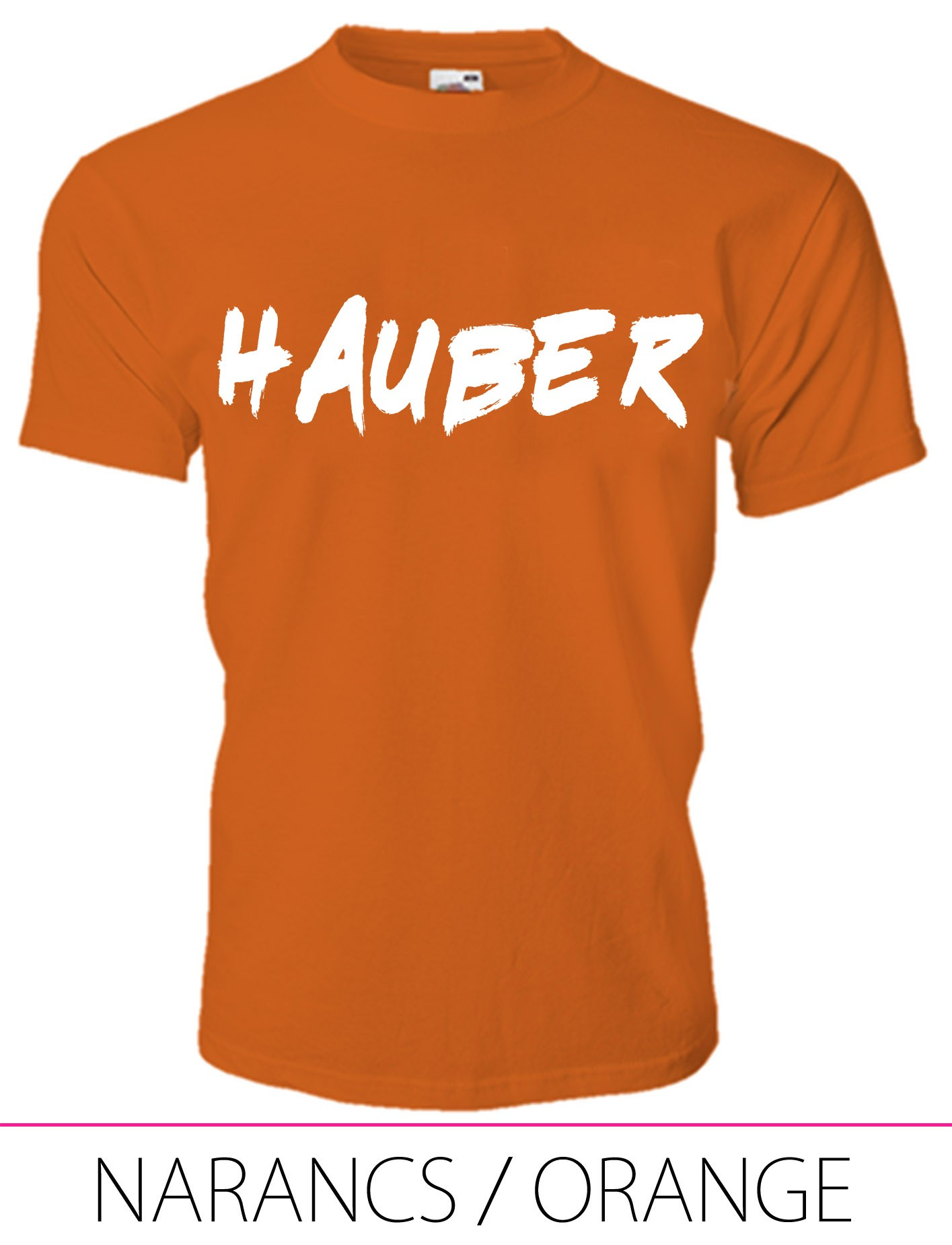 KIDS CREW NECK T-SHIRT HAUBER ORANGE