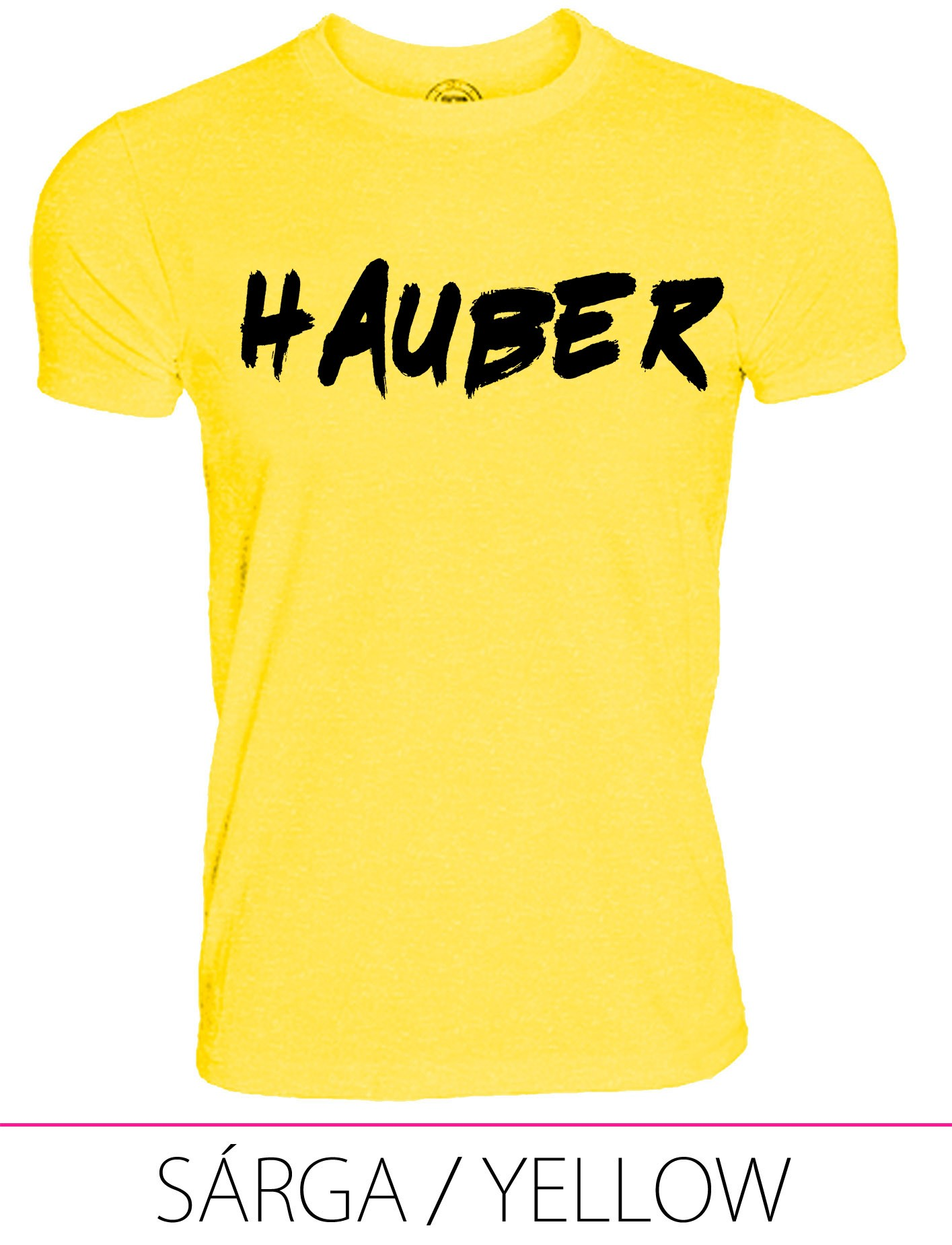 KIDS CREW NECK T-SHIRT HAUBER YELLOW