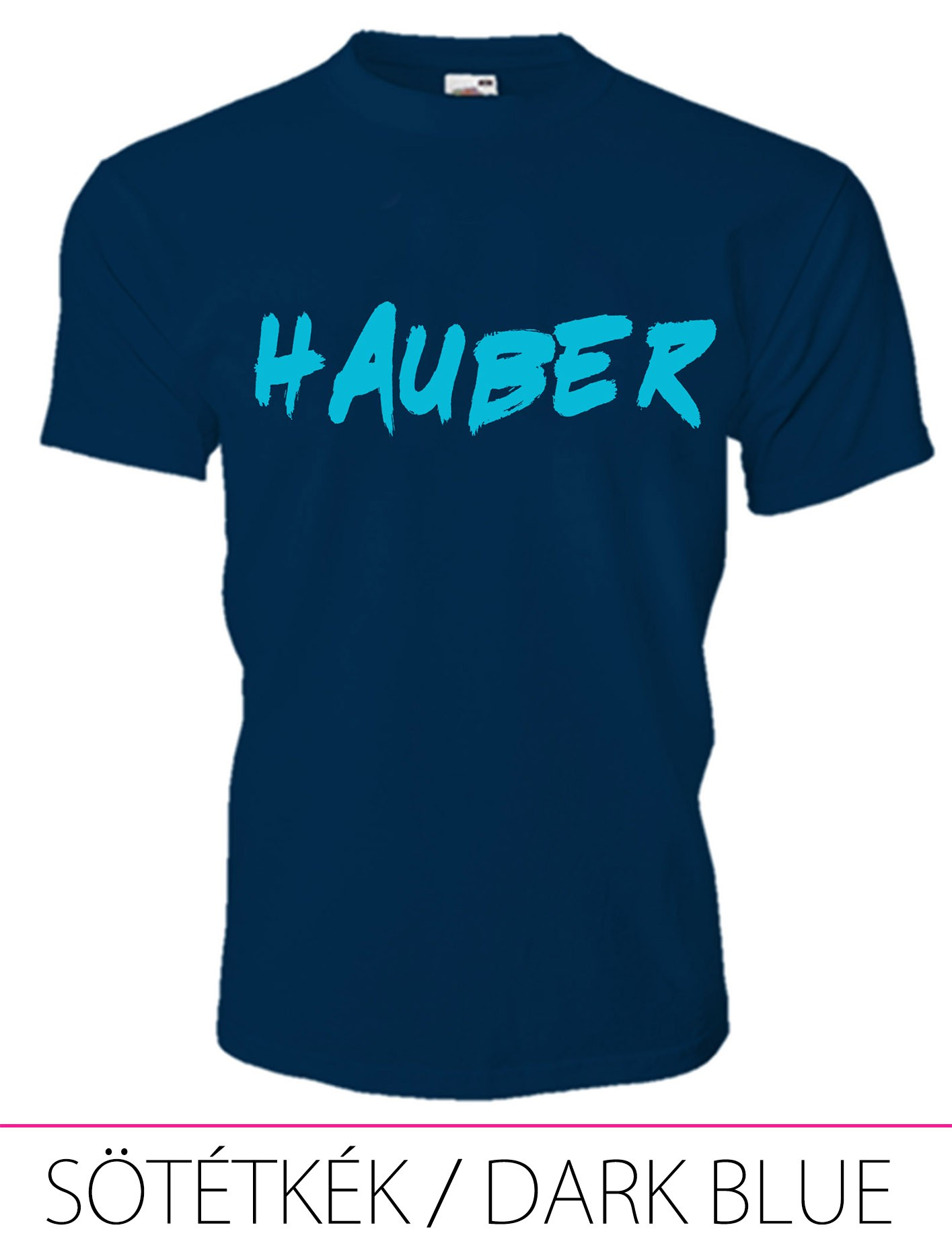 KIDS CREW NECK T-SHIRT HAUBER DARK BLUE