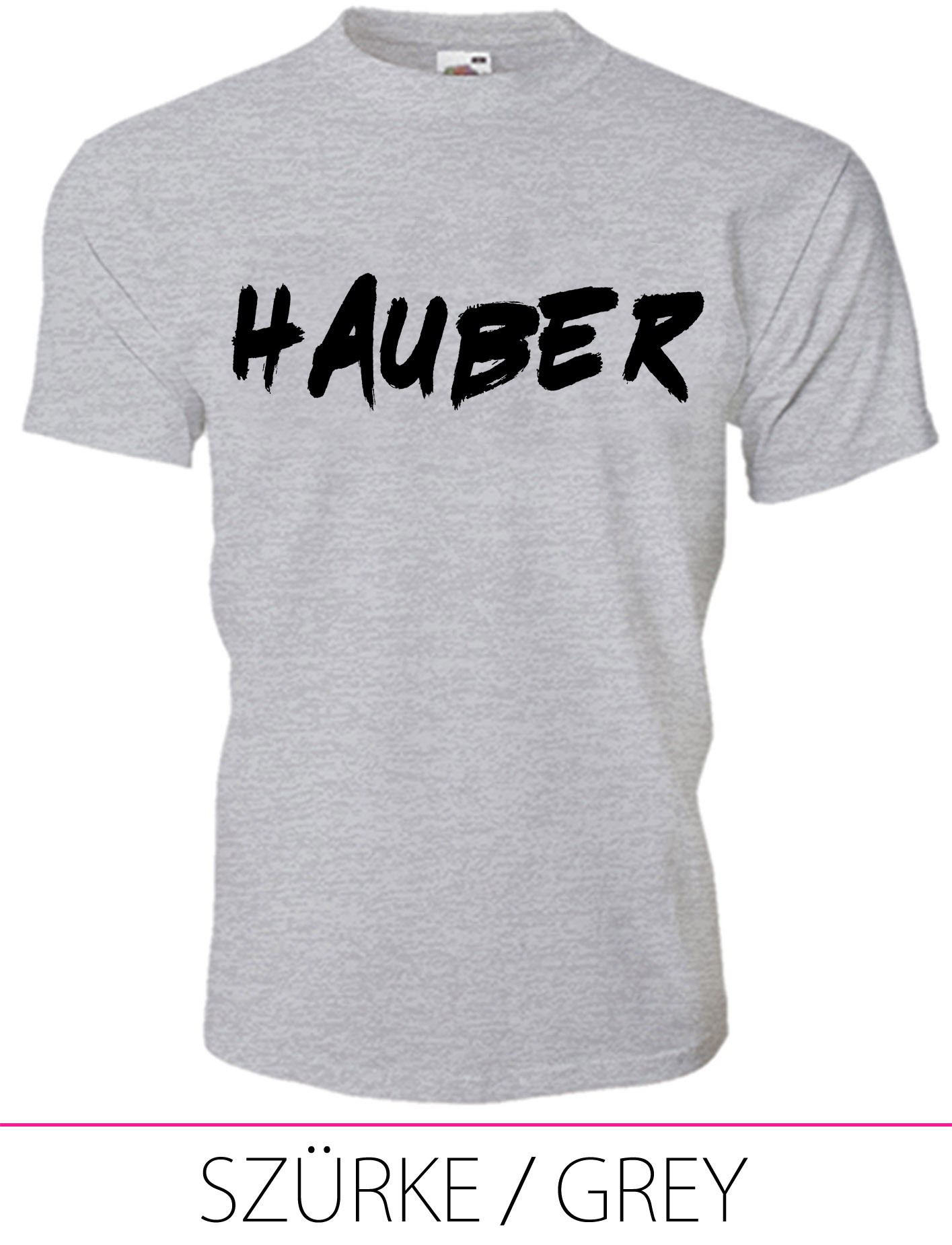 KIDS CREW NECK T-SHIRT HAUBER GREY