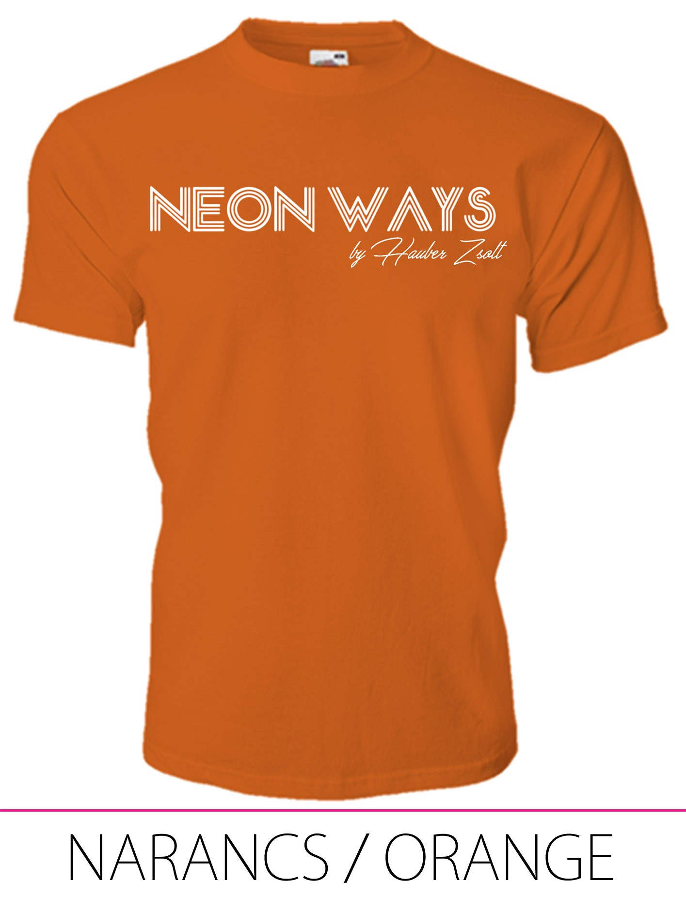 KIDS CREW NECK T-SHIRT NEON WAYS ORANGE