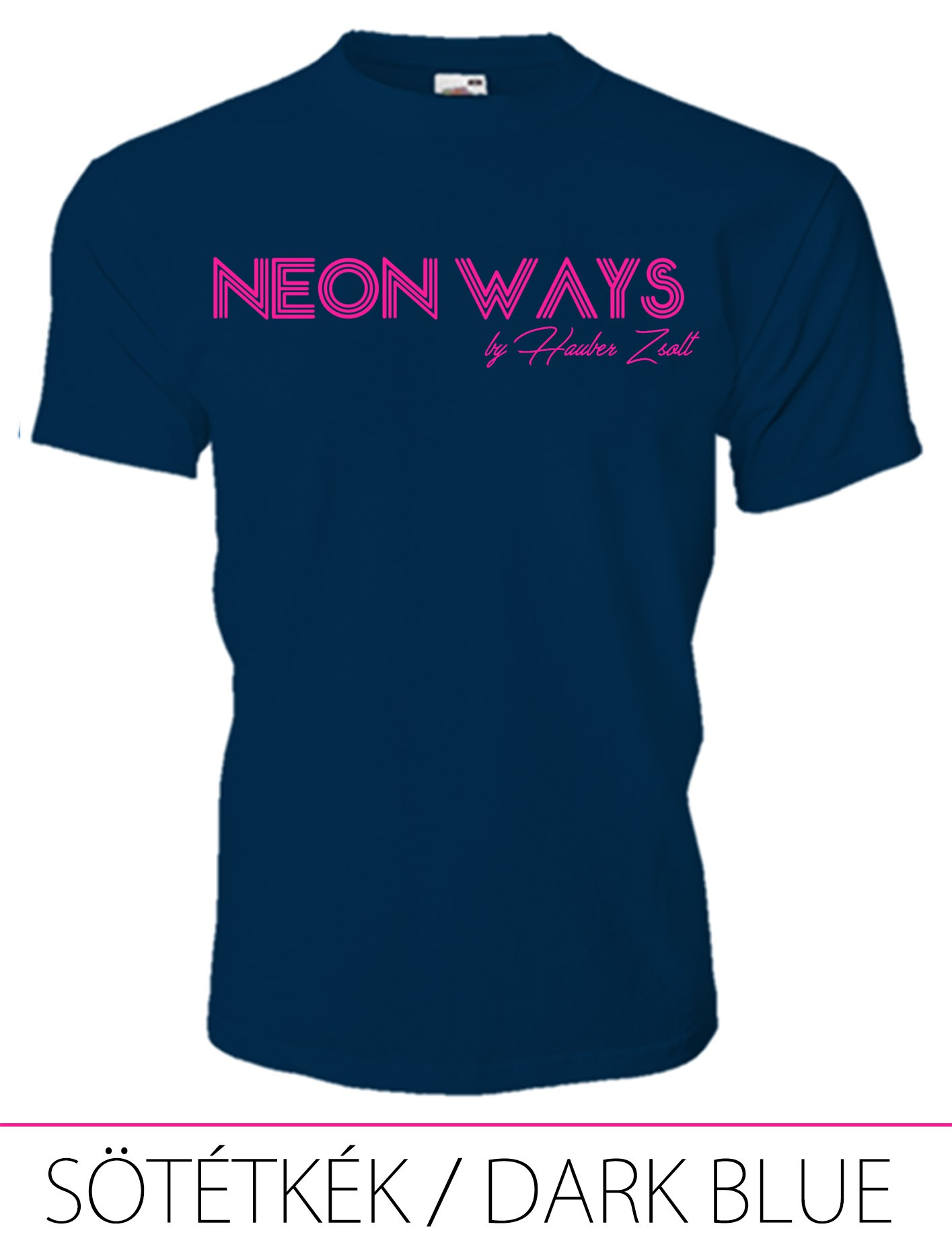 KIDS CREW NECK T-SHIRT NEON WAYS DARK BLUE