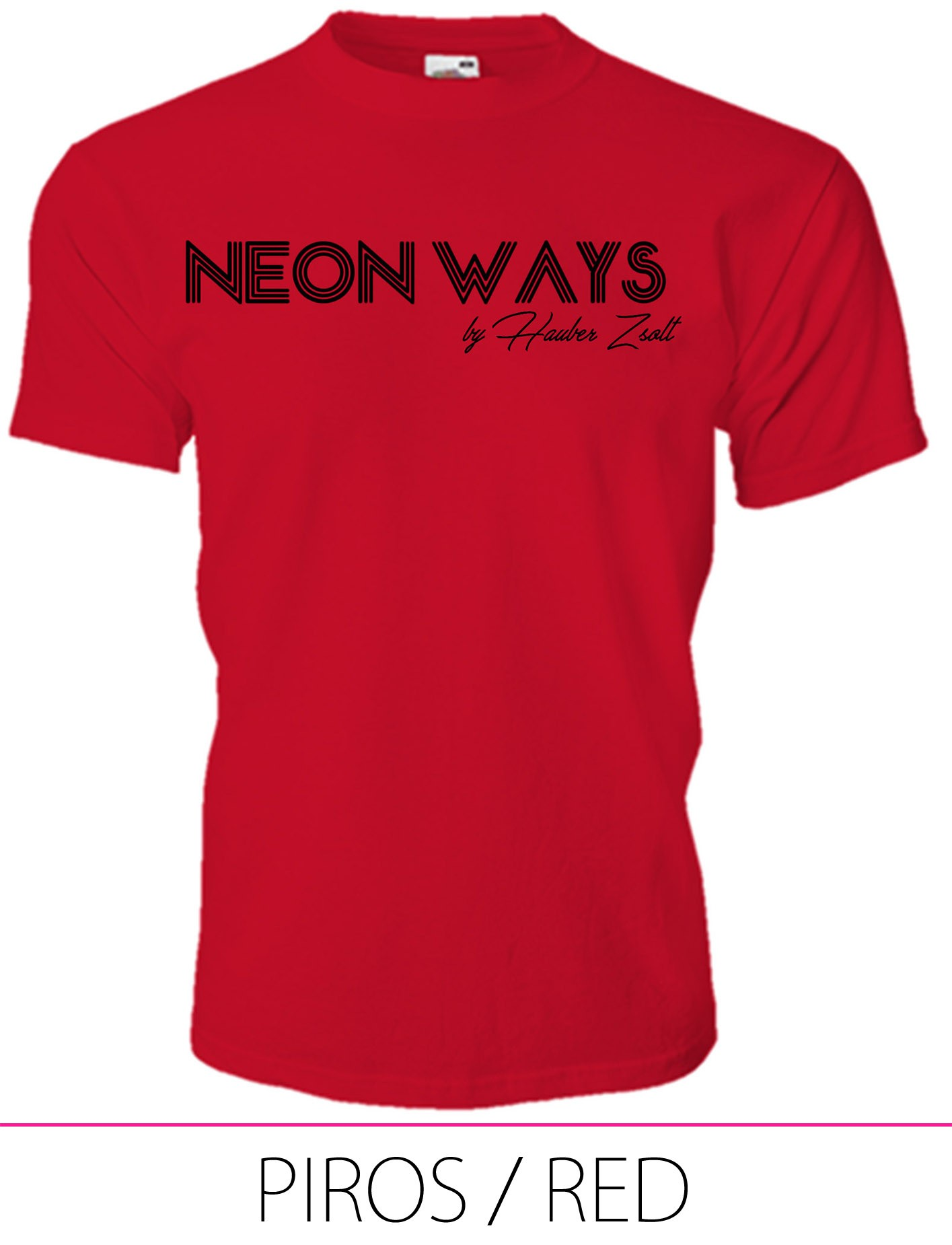 KIDS CREW NECK T-SHIRT NEON WAYS RED