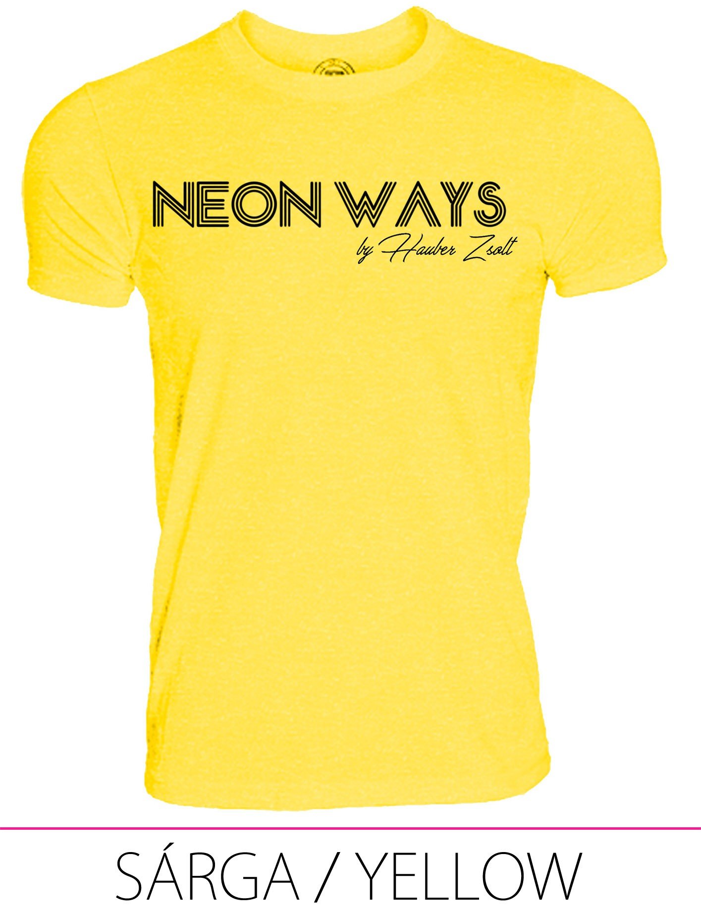 KIDS CREW NECK T-SHIRT NEON WAYS YELLOW