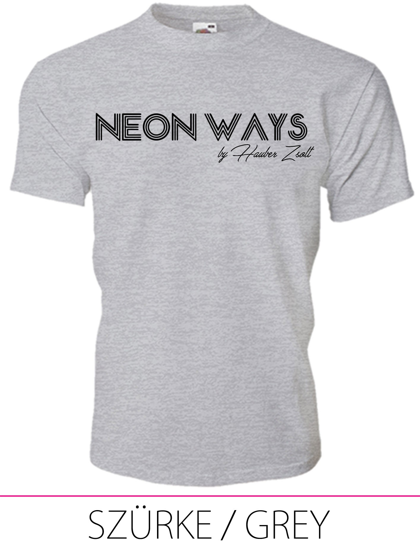 KIDS CREW NECK T-SHIRT NEON WAYS GREY