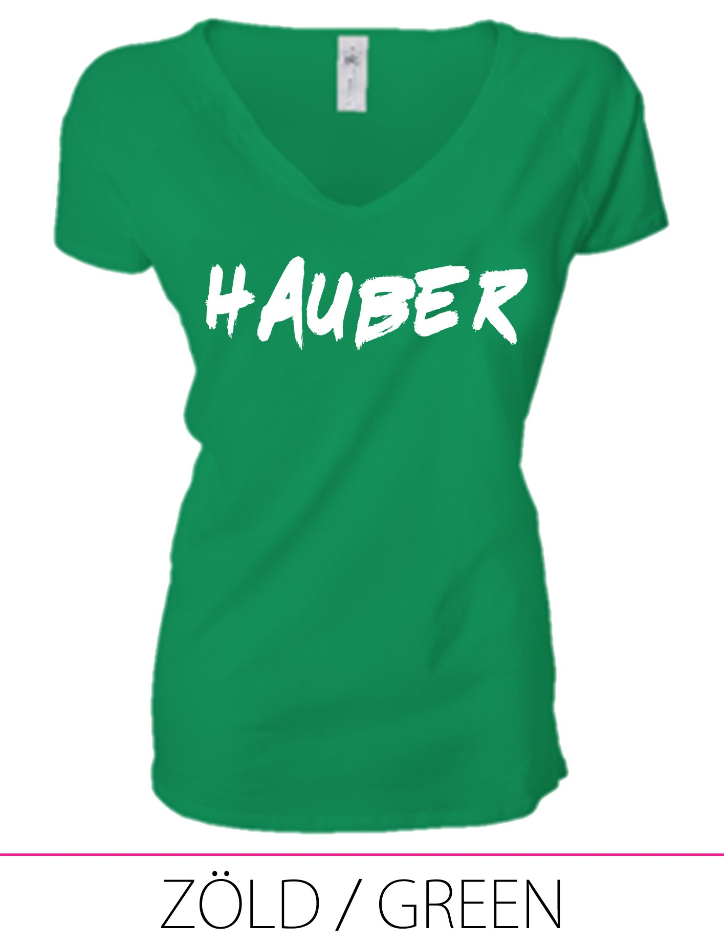 LADIES PREMIUM V NECK T-SHIRT HAUBER GREEN
