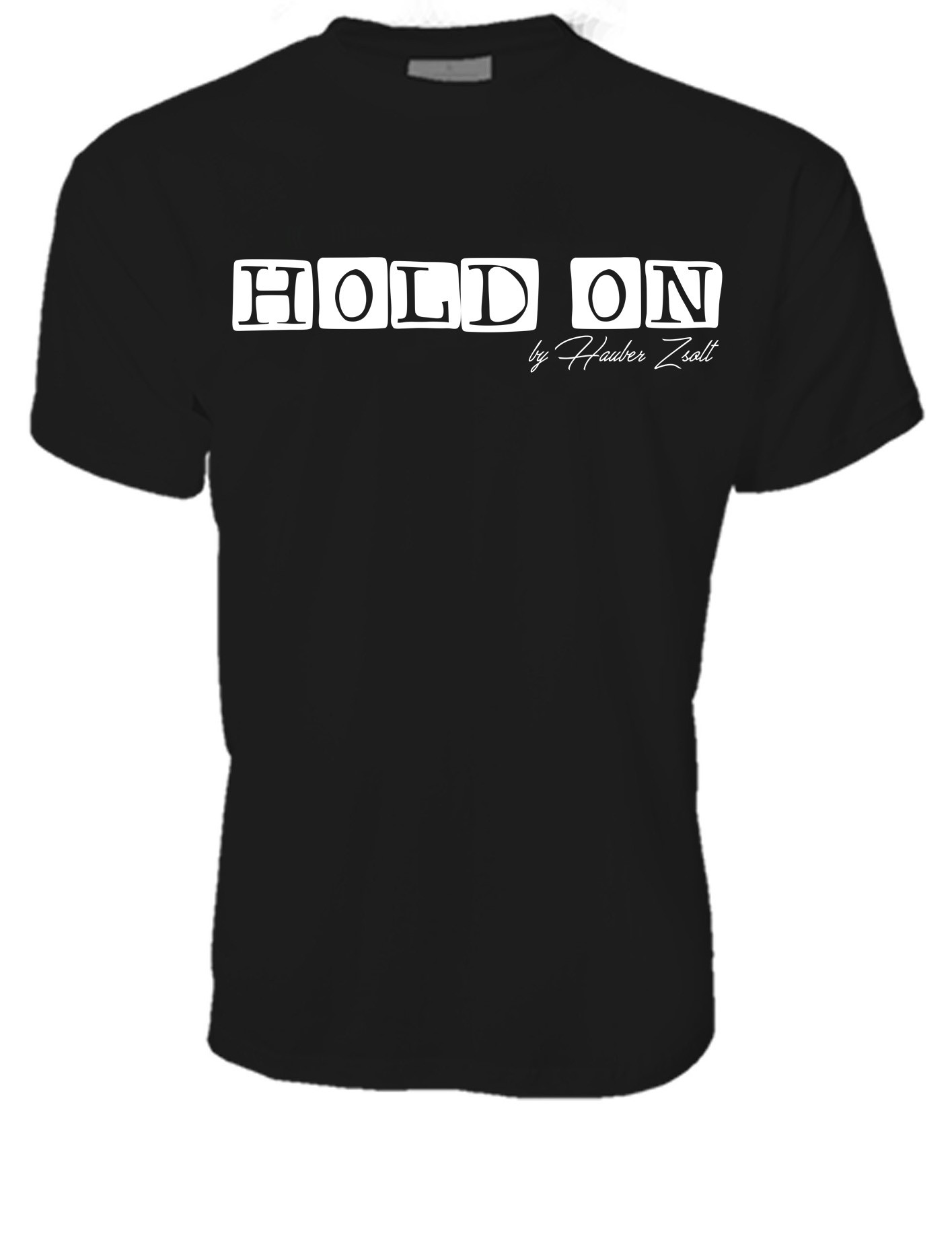 MEN CREW NECK T-SHIRT / HOLD ON
